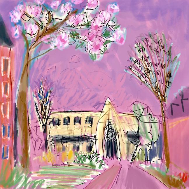 Church Walk in the pink